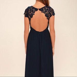The Greatest Navy Blue Maxi Dress